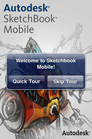 Sketchbook Mobile Opening Screen