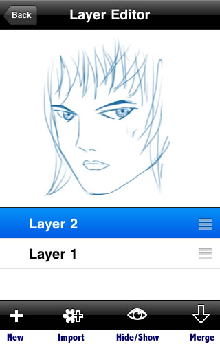 Sketchbook Mobile - Layer Menu
